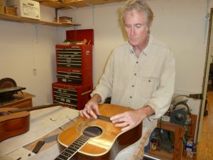 Ross Jennings in his San Marcos workshop. (Photo by D.C. Bloom)