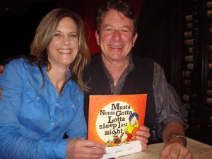 Wendy Hundere Parnell and Joe Ely, her muse. (Courtesy Wendy Hundere Parnell)