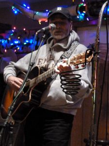 When in Rome ... Steamboat: Writer D.C. Bloom taking his turn at a MusicFest open mic. (Courtesy of D.C. Bloom)