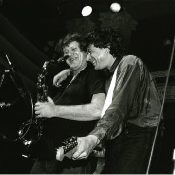Joe Ely and Bobby Keys onstage in 1986. (Photo courtesy Joe Ely)
