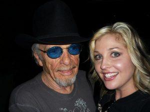 Sunny Sweeney with her hero, Merle Haggard. (Courtesy Sunny Sweeney)