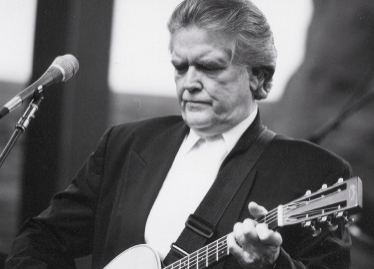Guy Clark onstage at Red Rocks in Colorado, 2002 (Photo by Brian T. Atkinson)