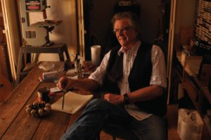 Guy Clark in his Nashville workshop. (Photo by Senor McGuire)