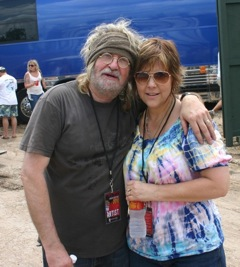 Ray Wylie and Judy Hubbard backstage at Willie Nelson's Picnic in 2010. (Courtesy Judy Hubbard)