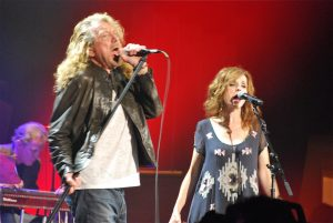 Robert Plant and Patty Griffin lead the Band of Joy. (Photo by Lynne Margolis)