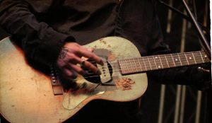 Dustin Welch's catalog guitar. (Photo by Bill Ellison)