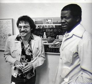 Terry Allen and C.B. Stubblefield, Lubbock Lights Gallery, 1979 (Courtesy Terry Allen)