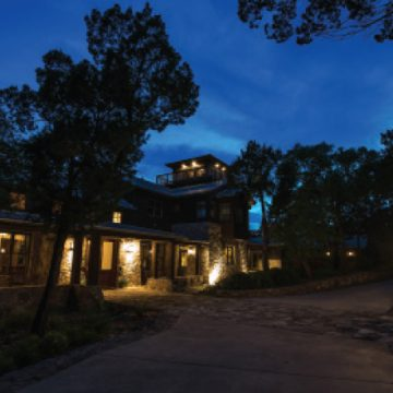 Blue Rock Artist Ranch and Studio at twilight (Photo by Tristin Rhodes)