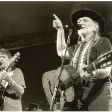 Jody Payne with Willie Nelson (Photo by John Carrico)