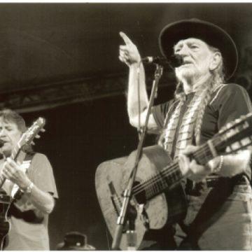 Jody Payne with Willie Nelson (Photo by John Carrico)