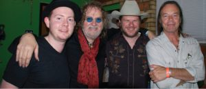 GOOD COMPANY: Fullbright, Ray Wylie Hubbard, Jason Eady, and Kevin Welch backstage at the 2013 Lone Star Music Awards in San Marcos, Texas. (Photos by Lynne Margolis)