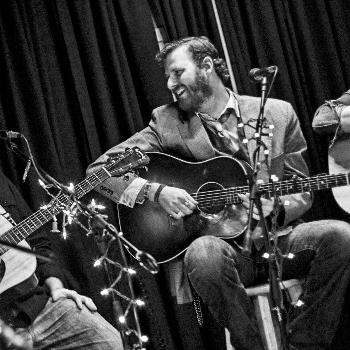 Allan Goodman, Drew Kennedy and Javi Garcia onstage at Tavern in the Gruene in New Braunfels, TX. (Photo by Steve Circeo)
