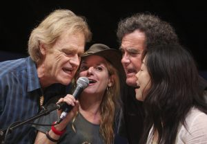 Bob Livingston, Amilia K. Spicer, Bill Oliver and BettySoo at Kerrville in 2009. (Photo by Susan Roads)