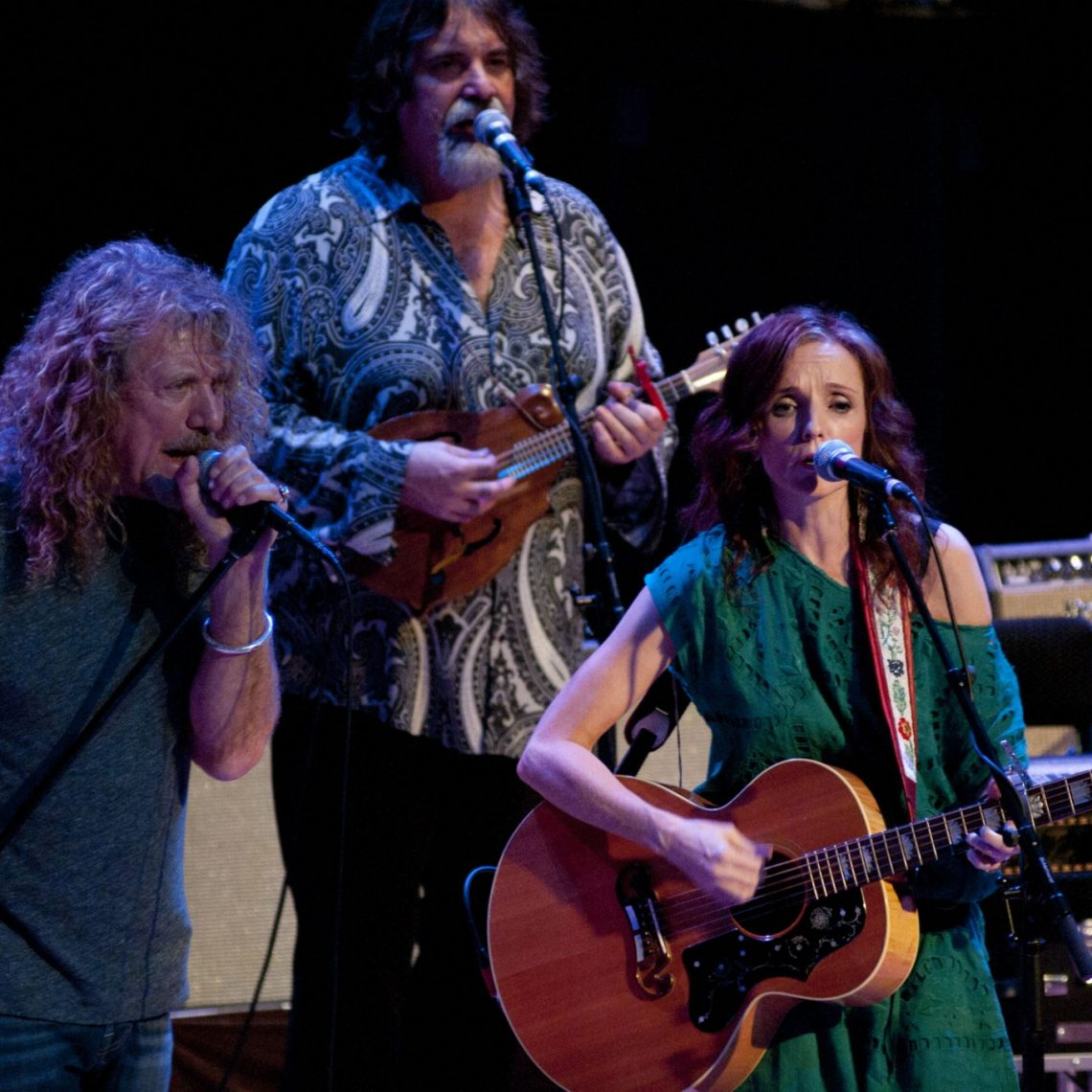 Robert Plant, Darrell Scott and Patty Griffin at the Americana Music Awards. (Photo by Nichole Wagner)