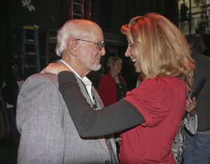 Rod Kennedy and Terri Hendrix at Kennedy's 80th birthday celebration at Austin's Paramount Theatre in 2010. (Photo by Susan Roads)