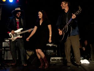 Don Was, Amy LaVere and Todd Snider at the Cannery. (Photo by Nichole Wagner)