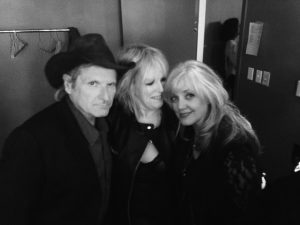 Butch Hancock, Lucinda Williams, and Kimmie Rhodes (Photo by Adrienne Evans)
