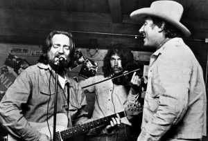Willie Nelson and Jerry Jeff Walker at Cheatham Street. (Courtesy Cheatham Street Foundation Archives)