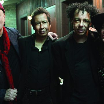 Punks in love (with everything): The Fauntleroys, from left, are Nicholas Tremulis, Alejandro Escovedo, Ivan Julian, and Linda Pitmon. (Photo by Jeff Fasano)