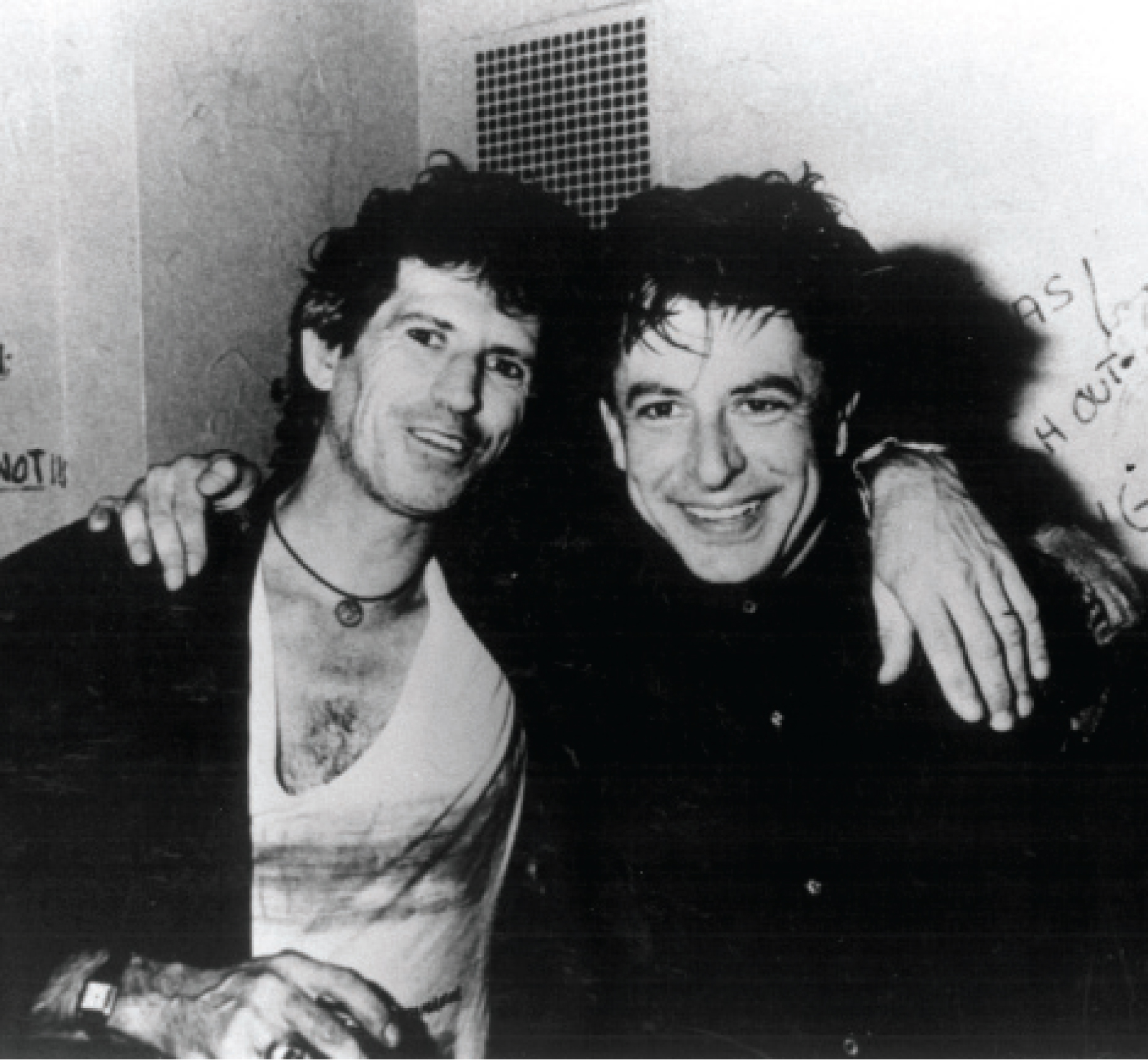 Keith Richards (left) — Rolling Stone, Rock & Roll Hall of Famer, New York Times bestselling author and the second coolest dude in this picture (taken Sept. 27, 1985, in New York City). Photo courtesy Joe Ely