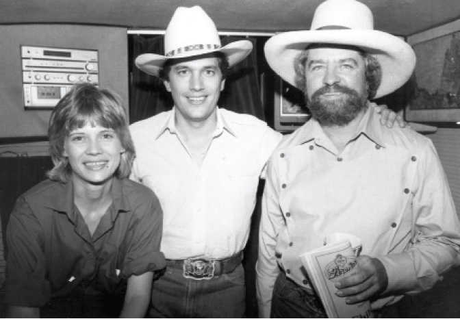 Writer Diana Hendricks (then Finlay) with George Strait and Kent Finlay in September 1981. (Courtesy Cheatham Street Foundation Archives)