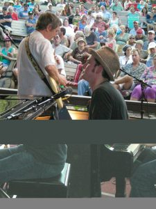 """Oklahoma's John Fullbright and Terry """"Buffalo"""" Ware at Kerrville. (Photo by D.C. Bloom)"""