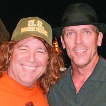 """Kevin Higgins and Hugh """"House"""" Laurie (Courtesy Kevin Higgins)"""