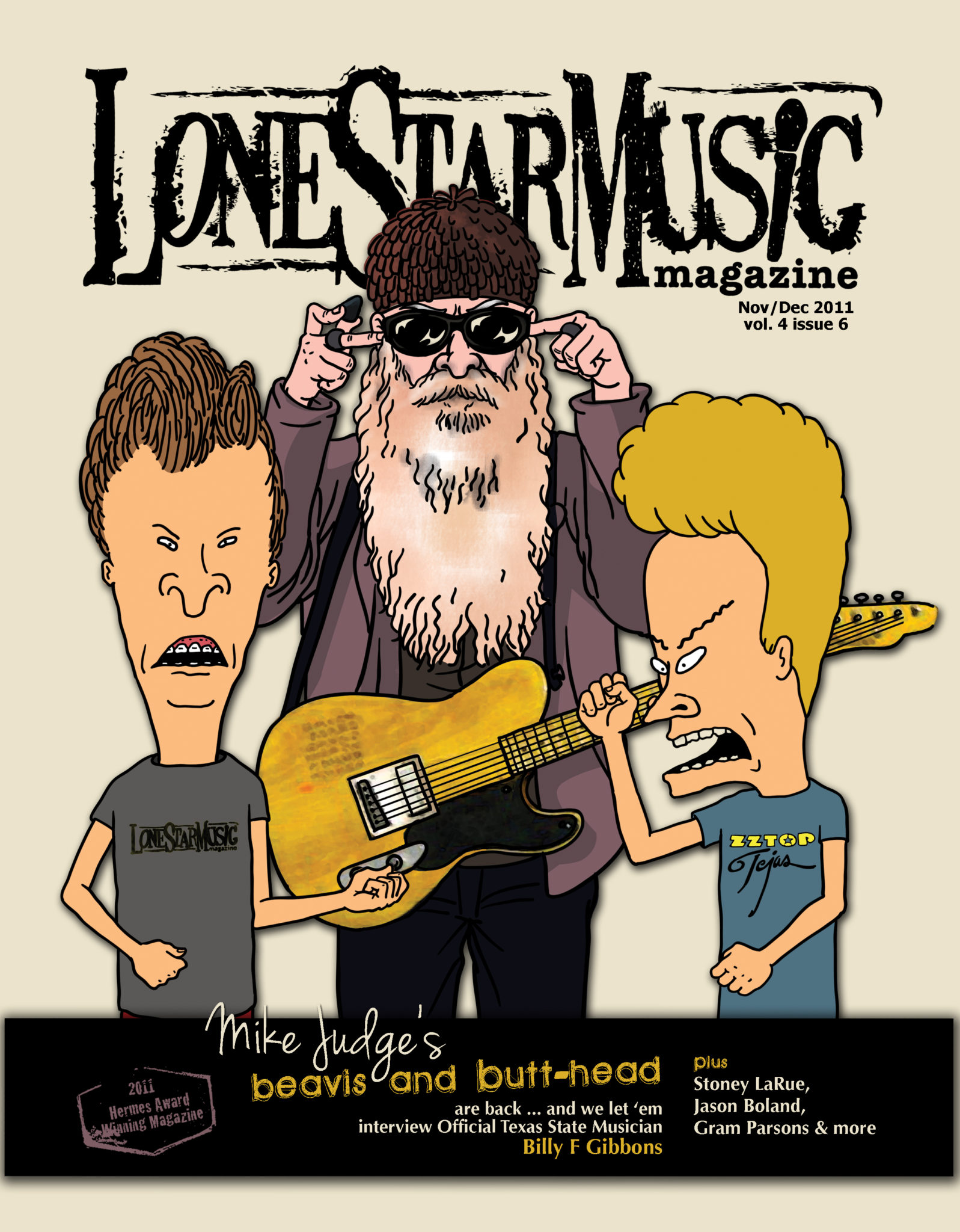 Lsm cover story mike judges beavis and butt head lone star music lsm novdec 2011 illustration by mike judge chris song voltagebd Gallery