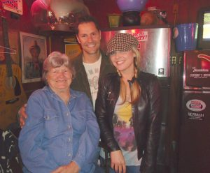 Ginny's Little Longhorn owner Ginny Kalmbach (left) with Sunny Sweeney and Sweeney's boyfriend, Jeff Hellmer. (Photo by Sharon Lusk)