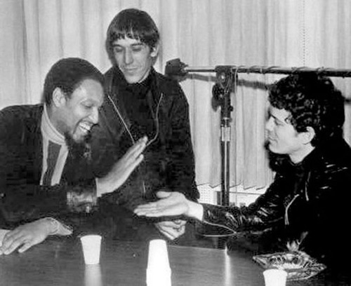 Tom Wilson with John Cale and Lou Reed of the Velvet Underground (Courtesy Verve Records)