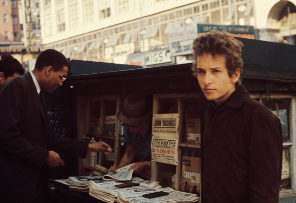 Tom Wilson and Bob Dylan in 1964 (Photo by Sandy Speiser/Courtesy Columbia Records)