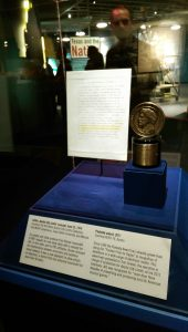 ACL's Peabody Award, on display at the Bullock Museum (Photo by Lynne Margolis)