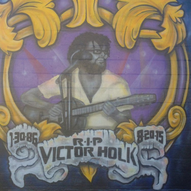 Victor Holk Mural in San Marcos. (Photo by Kristen Townsend)