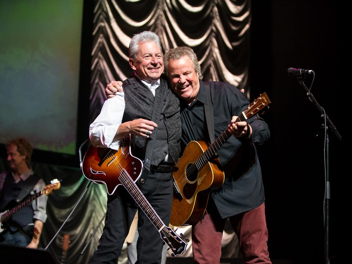 Joe Ely and Robert Earl Keen at the TXHSA Hall of Fame Awards Show (Photo by Ted Parker Jr, Courtesy of the TXHSA)