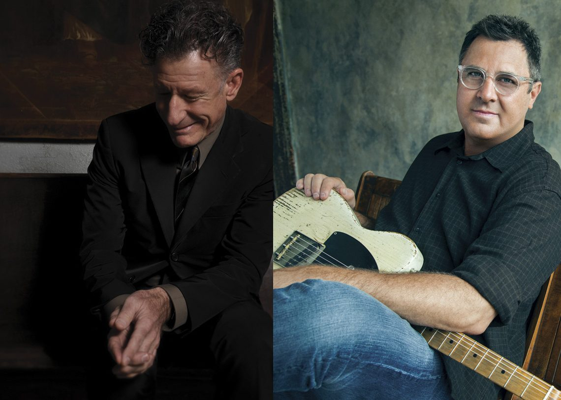 Lyle Lovett (Photo by Rodney Bursiel) and Vince Gill (Courtesy VinceGill.com)