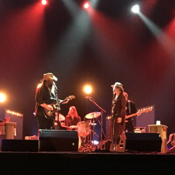Chris Stapleton and band at City Bank Auditorium in Lubbock. (Photo by Tanner Castle)
