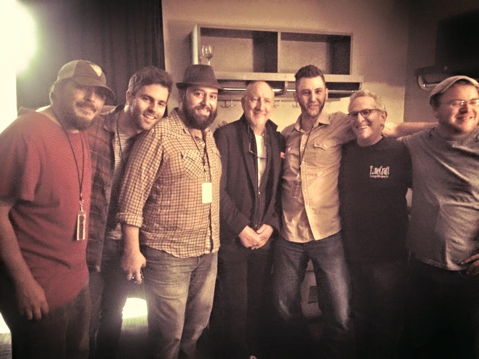 Louis Meyers with the HillBenders and Pete Townshend. (Photo from Facebook)