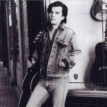 "Steve Earle photo from ""Guitar Town,"" 1986. (Courtesy MCA)"