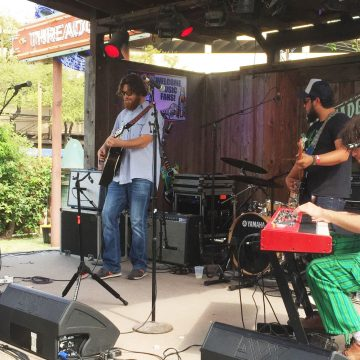 Uncle Lucius at Lone Star Music and KOKE-FM's Dillo Mixer at Threadgill's World Headquarters. (Photo by Richard Skanse)
