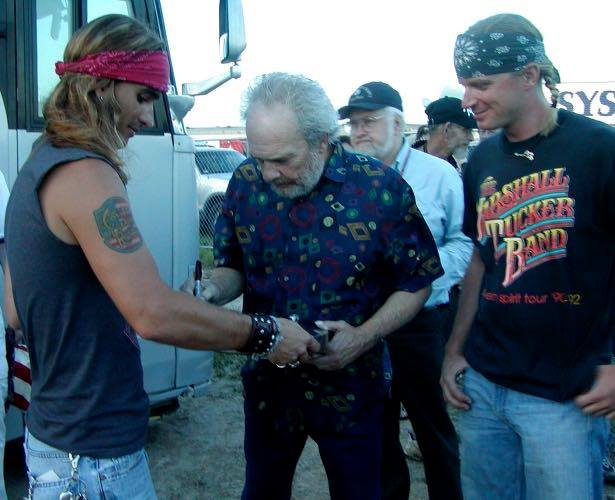 Cody Canada and Merle Haggard in Fort Worth (Courtesy Shannon Canada)