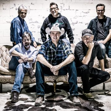 Cooder Graw, clockwise from top left, is: Carmen Acciaioli, Danny Crelin, Kelly B. Test, Paul Baker, Matt Martindale, and Kelly Turner. (Courtesy CooderGraw.com)