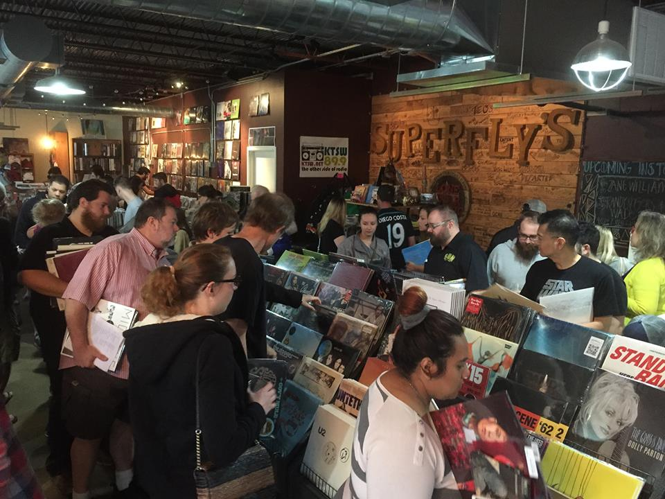 Record Store Day 2015 at Superfly's Lone Star Music Emporium in San Marcos, Texas. (Photo by Richard Skanse)