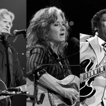 ACL Hall of Fame Class of 2016: (from left) Kris Kristofferson, Bonnie Raitt and the late B.B. King. (Photos courtesy ACLTV.com)