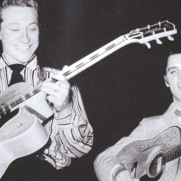 Scotty Moore and Elvis Presley