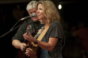 "Terri Hendrix and Lloyd Maines, before being joined by ""the tribe."" (Photo by Nichole Wagner)"