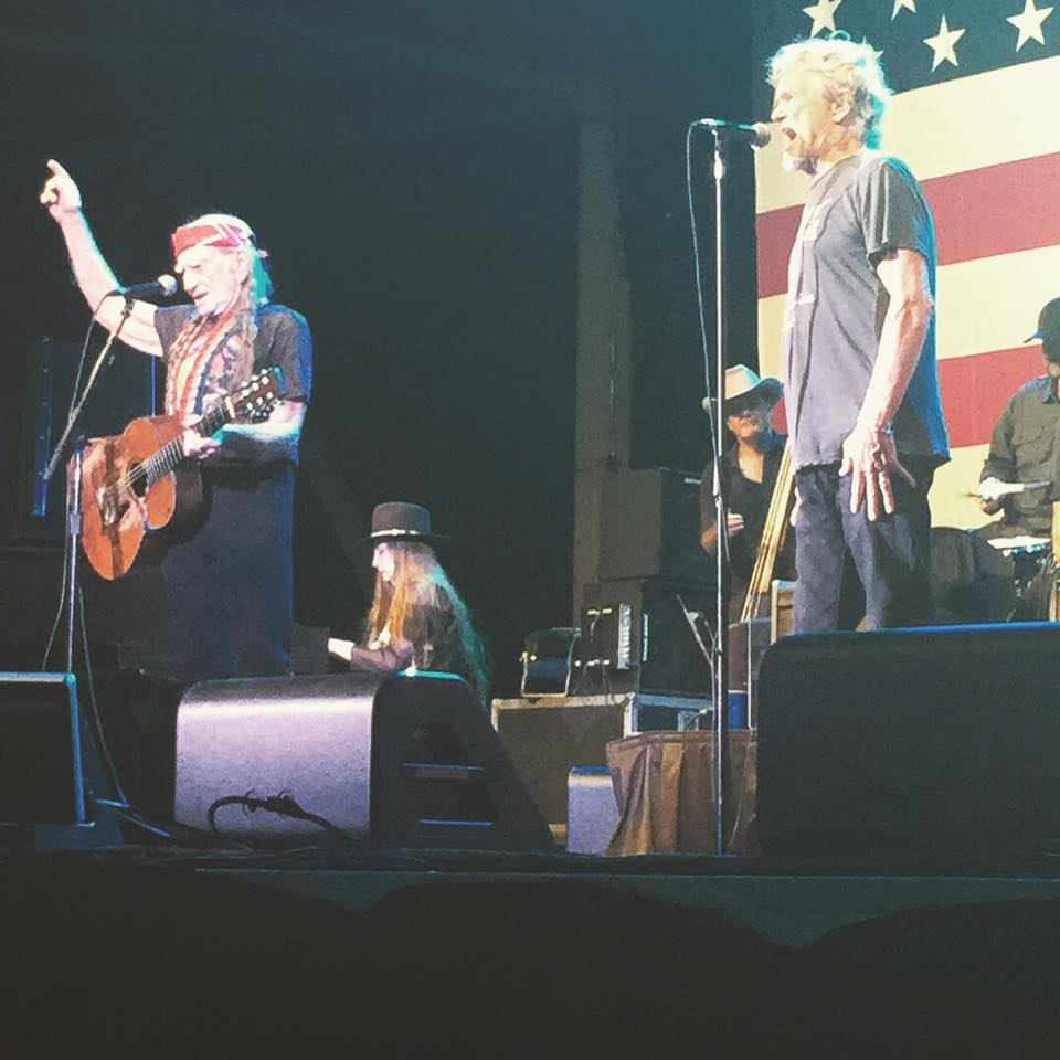 Willie Nelson and Kris Kristofferson at the Austin360 Amphitheater. (Photo by Donna Middleton)