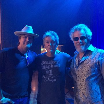 "Texas in the House: Jack Ingram, Rodney Crowell, and Robert Earl Keen at the Ryman for Tuesday night's ""Guy Clark: A Celebration."" (Photo by Kathleen Keen)"