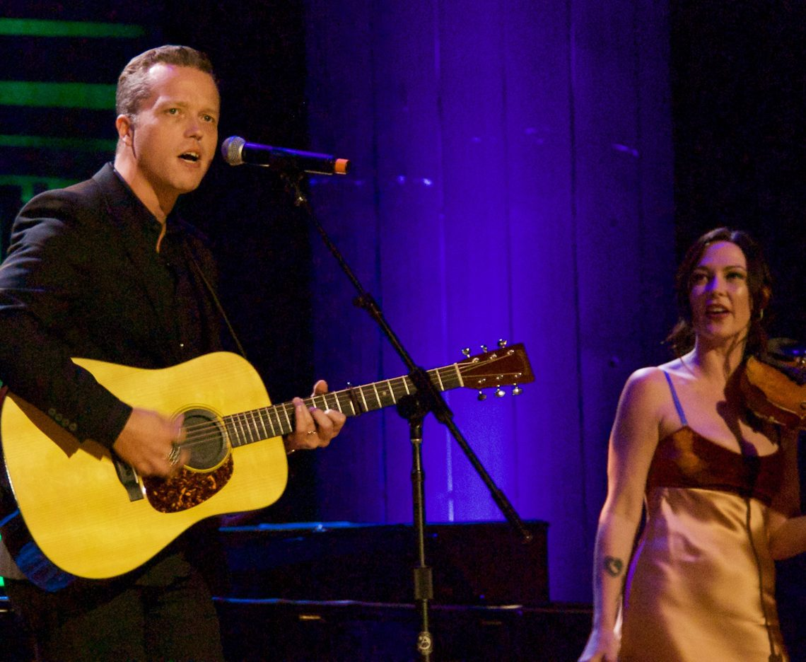 Jason Isbell and wife Amanda Shires performing at the 15th annual Americana Honors & Awards in Nashville. (Photo by Lynne Margolis)