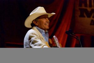 George Strait, who presented the Wagonmaster Award to Jim Lauderdale. (Photo by Lynne Margolis)