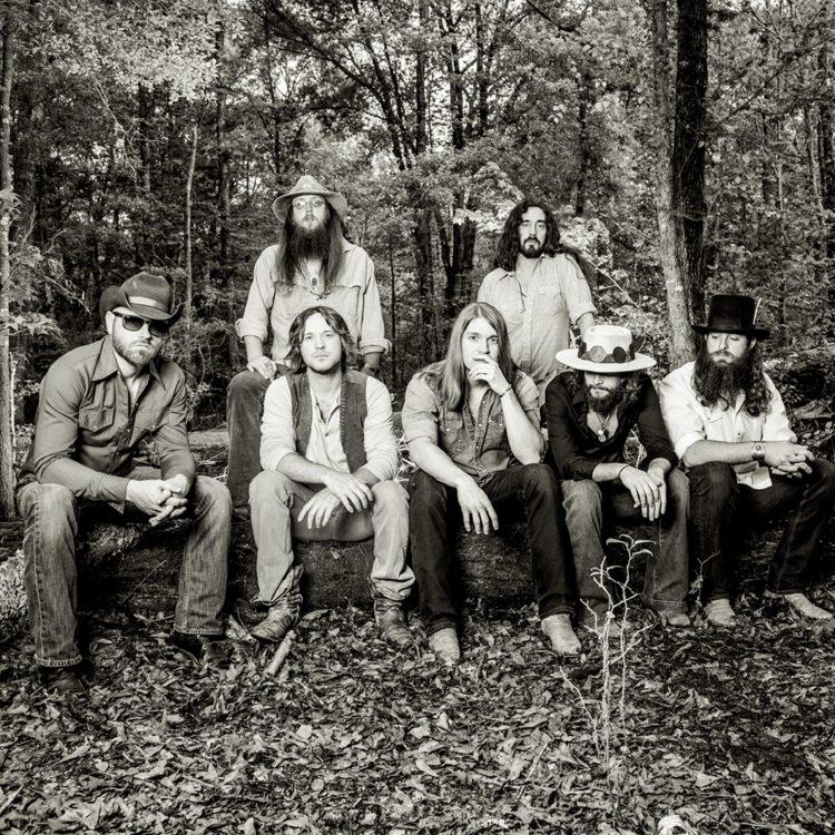 Mud Brothers: Whiskey Myers features (sitting, from left) Gary Brown, Cody Cannon, John Jeffers, Tony Kent and Jeff Hogg and (standing) Cody Tate and Jon Knudson (Courtesy Shore Fire)